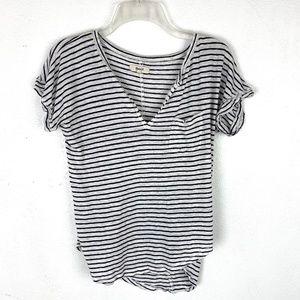 Madewell linen tee t-shirt short sleeve striped